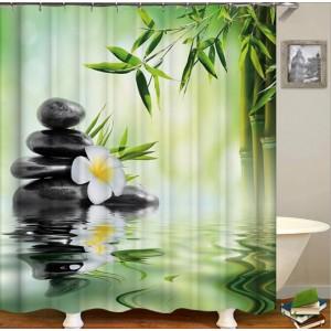 3D штора в ванную и душ В-0002