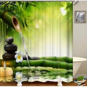 3D штора в ванную и душ В-0001