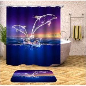 3D штора в ванную и душ В-0004