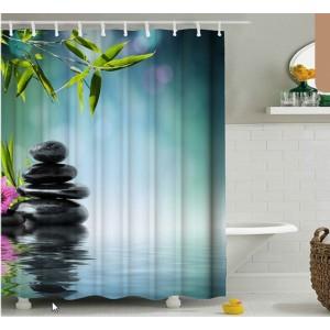 3D штора в ванную и душ В-0009
