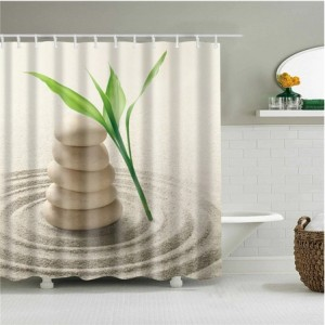 3D штора в ванную и душ В-0008